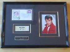 Elvis Plaque original concert ticket last tour unused, June 18, 1977, Missouri