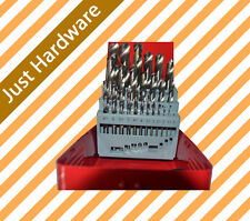 25 pc pcs Piece Titanium HSS Drill Bit Set 1 - 13mm in Metal drilling with case