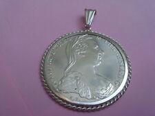 Silber Münze Anhänger  Maria Theresia Münze 1780 Sammlerstück 925er Silber