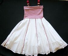 Duch Euro JOTTUM girls SOI suspender nautical dress red white easter 128 6 7 8