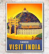 "India Art Vintage Travel Poster Print 12x16"" Rare Hot New A605"
