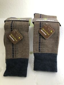Goodhew 2 PAIRS MERINO WOOL/ BAMBOO MENS Socks L / XL Lot Of 2 .