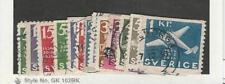 Sweden, Postage Stamp, #248-262 Set Used, 1936 Airplane