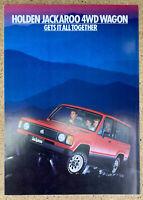 1985 Holden Jackaroo original Australian sales brochure