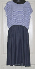 Womens Size 17 Chambray Striped Dress Made by 17 Sundays