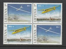 LITHUANIA 2003 GLIDERS block of 4, Mint Never Hinged