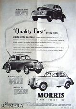 Morris Minor 1000 & Oxford 'Split Screen' 1949 Cars ADVERT - Original Print AD