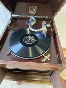 Vintage HMV His Master's Voice Gramophone Wooden Soundbox