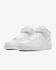 NIKE AIR FORCE 1 MID '07 TRIPLE WHITE 315123 111 sizes 4Y-14 *BRAND NEW IN BOX*