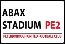 Peterborough United Metal Street Sign Football Teams Wall Door Plaque Sign 1144