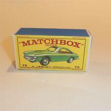 Matchbox Lesney 75 b Ferrari Berlinetta empty Repro E style Box