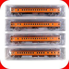 N Scale MILW MILWAUKEE ROAD Passenger Coach/Bunk 4-Pack Set -- FOX VALLEY MODELS