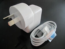 10W 2A Australia USB Wall Charger Adapter Plug +USB Cable for Iphone 5C 5S IPAD4
