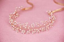 Wedding Rhinestone Headband Ribbon Freshwater Pearl Hair Accessories Headpiece