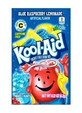 10 Packs Kool-Aid BLUE RASPBERRY LEMONADE Unsweetened Drink Mix Packets
