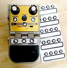 Guitar Pedal Amplifier Knob Setting Decals Boss Digitech Line 6 MXR & ALL pedals