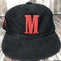 VINTAGE MARLBORO CIGARETTE HAT CAP ADJUSTABLE BLACK RED ONE SIZE FITS MOST VTG