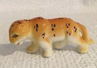 Vintage Small Porcelain Cheetah Figurine - Japan