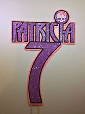 Monster High inspired personalised name&number layered cake topper