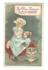 Trade Card Gem Ice Cream Freezer American Machine Philadelphia Eddy Providence