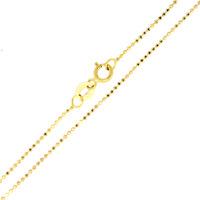 Kugel Kette 375 Gold massiv diamantiert 1,4g 45cm 1,0mm Sogni D´oro