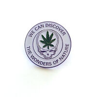 Grateful Dead Steal Your Face Pot Leaf Custom Enamel Pin