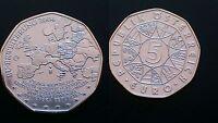 AUSTRIA / 5 EURO - ENLARGEMENT / 2004 / SILVER COIN