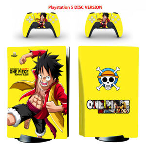 One Piece Vinyl Skin Decal Sticker for PS5 Console & 2 Controllers Disc Version