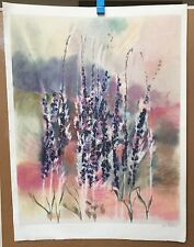 FIELD FLOWERS - DAN PARTOUCHE - LITHOGRAPH - PENCIL SIGNED & NUMBERED - 259/300