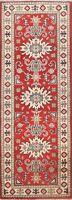 Tribal Vegetable Dye Super Kazak Oriental Runner Rug RED Hand-knotted 2x6 Carpet