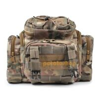 Fishing Waterproof Tackle Bag Case Sack Waist/Shoulder Forest Camo Sea/Carp