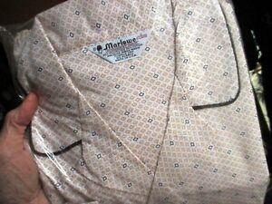 NOS Vtg 70s MARLOWE Mens DIAMOND PRINT Pajamas D XL MADE IN USA 2 PC