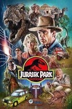 Jurassic Park (1993) Film Poster Jurassic Movie Wall Art Poster Wall Decor Print