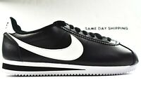 Nike Classic Cortez Leather (Womens Size 8.5) Shoes 807471 010 Black White