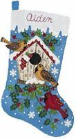 Bucilla - 'Christmas Birds' -  Christmas Felt Stocking Stitchery Kit -86944E