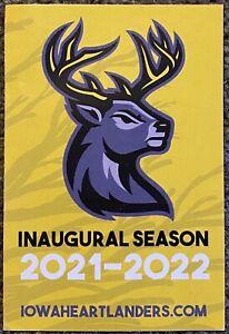 2021-2022 Iowa Heartlanders Schedule 🏒 Cool INAUGURAL SEASON Hockey Sked 🏒
