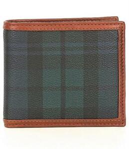 Polo Ralph Lauren Men's Blackwatch Tartan Plaid Bifold 8 Pocket Wallet NWT $150