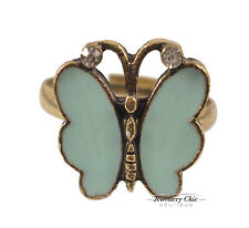 Cute Light Blue Butterfly Costume Jewellery Adjustable Ring