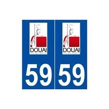 59 Douai logo autocollant plaque stickers ville arrondis