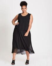 Autograph Black removeable BEADED LAYERED CHIFFON overlay DRESS Size 20