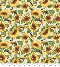 Thanksgiving Fall Fabric - Susan Winget Harvest Bird & Sunflower - Springs Yard