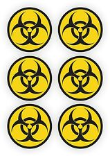 6 Bio-Hazard Stickers | Gaming PC Decals Laptop Notebook Desktop Computer Labels