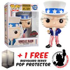 FUNKO POP AMERICAN HISTORY UNCLE SAM EXCLUSIVE VINYL FIGURE + FREE POP PROTECTOR