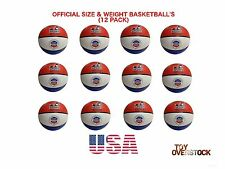 """(Lot of 12x) Basketballs USA Official size 29.5"""" indoor/outdoor - bulk wholesale"""
