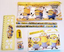Filled Pencil Case Ruler Sharpener Kids School Stationery Set Minions