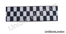 Ribbon Black & White Diced 40mm Sold By Meter R640