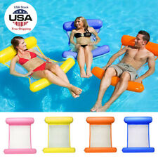 Portable Swimming Pool Toy Hammock Lounge Inflatable Water Floating Bed Cool