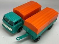 Matchbox Lesney No 1 & 2 Mercedes Truck and Trailer with Canopies