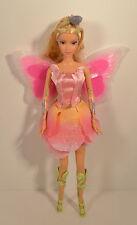 """12"""" Elina Fairy Barbie Doll Fairytopia Figure Rooted Eyelashes Shoes 2004 Mattel"""