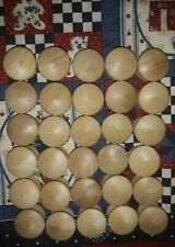 30 Wooden Pull Knobs 1�x3/4�